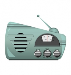 retro radio set vector image vector image