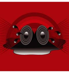 retro speakers vector image vector image