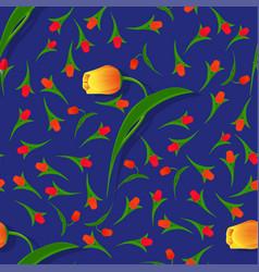 seamless flower pattern-02 vector image