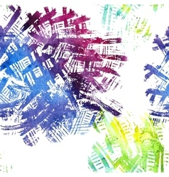 Seamless pattern with watercolor imprints vector