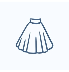 Skirt sketch icon vector image