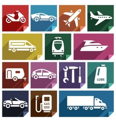 Transport flat icon-09 vector image vector image