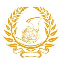 trombone symbol vector image vector image