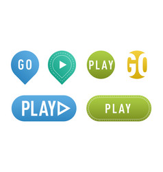 ui interface button play media internet isolated vector image vector image