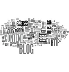 Why authors should blog text word cloud concept vector
