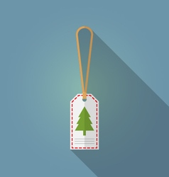 Merry christmas gift tag flat design vector