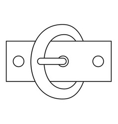 Oval buckle icon outline style vector
