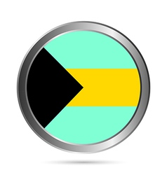 Bahamas flag button vector