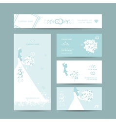 Business cards design weddign concept vector image
