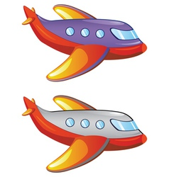 Cartoon airplane2 vector