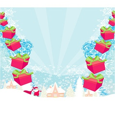Santa claus with gift abstract vector