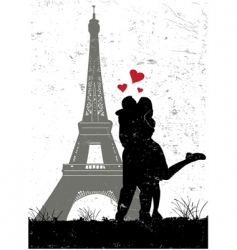 Paris in love vector