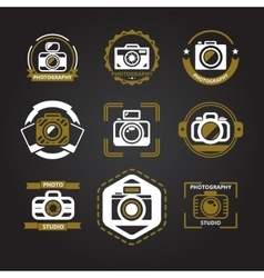 Logos or icons for photographers vector