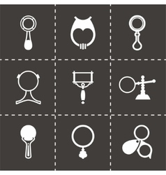 Magnifier icon set vector