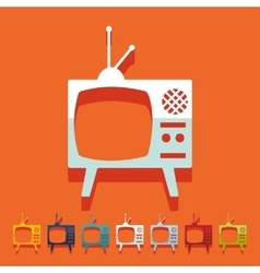 Flat design old tv vector