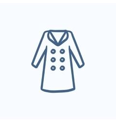 Coat sketch icon vector image