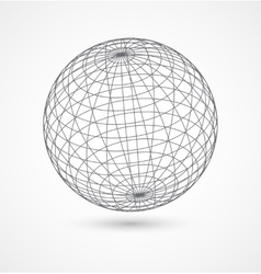 Abstract globe sphere from gray lines on white vector image vector image