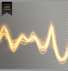 abstract transparent light effect in sound wave vector image vector image