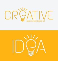 alphabet design creative idea concept with flat vector image vector image