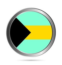 Bahamas flag button vector