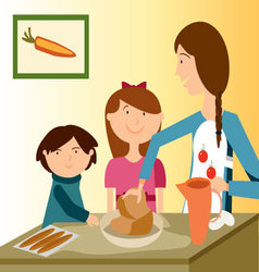 BAKING-WITH-MOM vector image