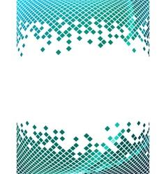 Blue mosaic 2 vector image vector image