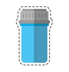 Cartoon container capsule medicine icon vector