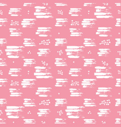 colorful seamless pattern with brush vector image