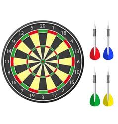 Darts board vector