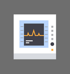 Electrocardiogram monitor icon ecg monitoring vector