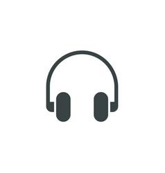 Headphone icon simple vector