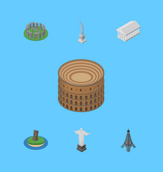 Isometric attraction set of paris coliseum rio vector