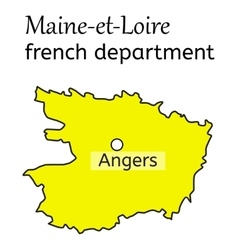 Maine-et-loire french department map vector