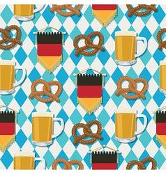 oktoberfest pattern vector image vector image