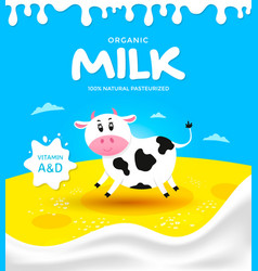 Packaging milk product vector