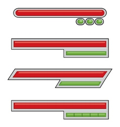 Simple Life Bar Game Assets vector image vector image