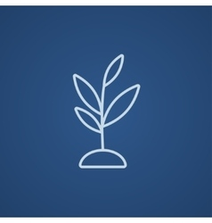 Sprout line icon vector image