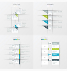 timeline design 4 item green blue gray color vector image vector image