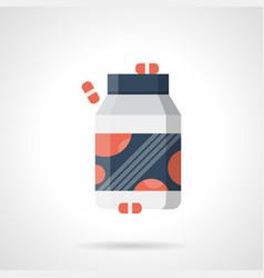 vitamins complex flat color icon vector image