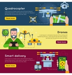 New technologies banner set vector