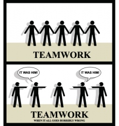 Teamwork one vector