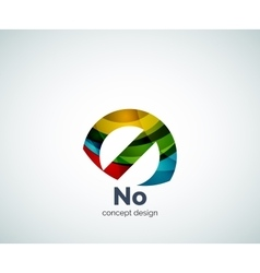 No concept prohibition logo template vector