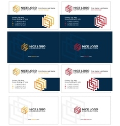 Gallery business card 2 vector