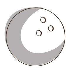 Bowling ball icon image vector