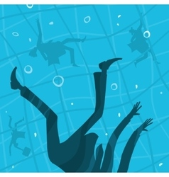 Business People drown in the water vector image