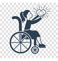 Silhouette icon of disabled persons vector