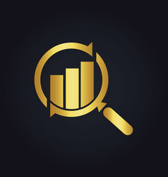 Search business finance exchange gold logo vector