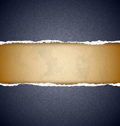 Textured torn paper vector image