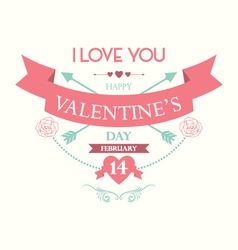 Happy valentine day vector