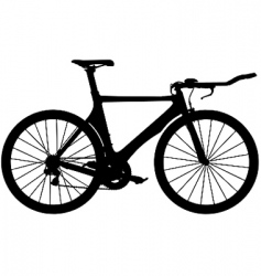 Time trial road bike vector
